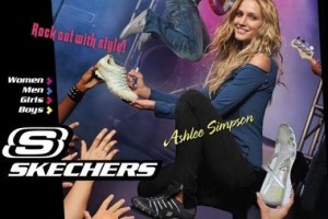Ashley Simpson for Skechers