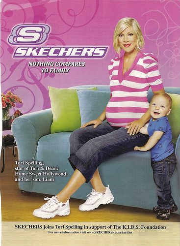 Tori Spelling for Skechers