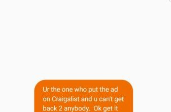 Photo of Response to a craigslist ad